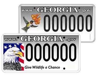 Image of wildlife license plates.
