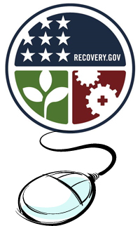 Recovery.Gov logo with a mouse to click for information